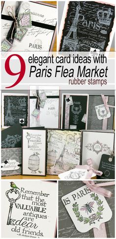 Before I share the details of my Paris Flea Market cards, I have a fun Pin for you! All of the above cards were created with the beautiful unmounted stamps designed to coordinate with our Paris Flea Market collection. Let's take a closer look at the cardsmade with each sheet of stamps. JUMBOUM CARD #1 … Continue reading Take Stamping To The Market →
