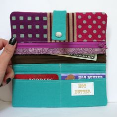 Wallet- sewing project- Want to make this tonight!