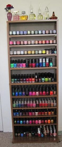 The Glam Shack: Nail Polish Storage  looks like you have some competition Courtney.
