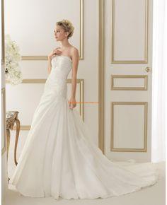 Robe de mariée 2014 organza dentelle drapé