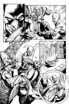 Hawkman Page 1 Inks by craigcermak on DeviantArt