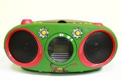 Amazon.com : Teenage Mutant Ninja Turtles Boombox CD Player with Text Display, AM/FM Stereo Radio, Repeat Function : Childrens Cd Player Products : Electronics