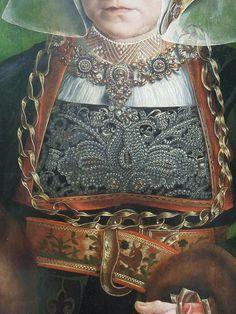 Portrait of Sibylla Kessel,Barthel Bruyn the Elder ( ca. 15401545), fragment by Ekaterina Mikhaylova-Smolnyakova, via Flickr