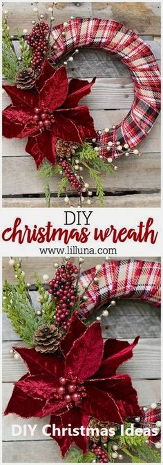idées de couronnes pour noel DIY Elegant Christmas Wreath by Blooming Homestead – make a beautiful, personalized wreath for the holidays, using just a few simple supplies! Elegant Christmas, Noel Christmas, Christmas Ornaments, Christmas 2019, Make A Christmas Wreath, Beautiful Christmas, Nordic Christmas, Modern Christmas, Christmas Music