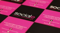 Sociale High Contrast Matte Finished Business Cards