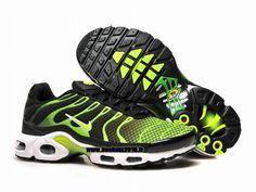 Nike Officiel Nike Air Max Tn Requin Tuned 2015 Chaussures Pas Cher Pour Homme Vert Noir
