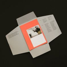 Prospectus / main section stuck down and then newsletters or changable info sits on top and is sealed for postage Print Layout, Layout Design, Print Design, Typography Layout, Graphic Design Typography, Editorial Layout, Editorial Design, Portfolio Design, Branding