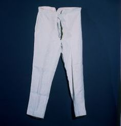 trousers Hand and machine sewn.Probable Dateca. 1830 (?) w/ later alterations