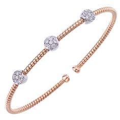 Ben Garelick .30 Carat Diamond Cuff Bangle Bracelet in 18K Rose Gold · B8183/P · Ben Garelick Jewelers