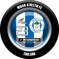 DNZ Football Buttons: Wigan Athletic FC                                                                                                                                                                                 Mais