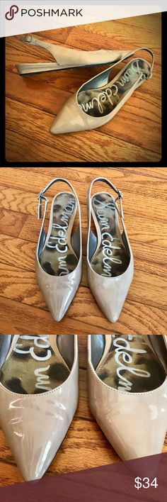 Sam Edelman Ionia Pointed Toe SlingBack Nude Flats Sam Edelman Ionia Pointed Toe Sling Back Nude Flats Size 6  GUC- some minor wear noted.  FAST shipping! Same or next day shipping, always! Thanks for looking! Sam Edelman Shoes Flats & Loafers