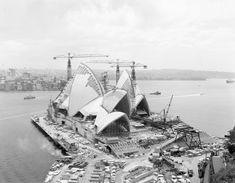 Construction of the Sydney Opera House, in Australia ca.1966 v@e