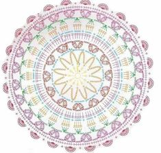 52 Ideas Crochet Mandala Diagram Charts For 2019 Knitting PatternsCrochet For BeginnersCrochet PatronesCrochet Bag Crochet Patterns Free Women, Crochet Square Patterns, Crochet Diagram, Crochet Stitches Patterns, Crochet Chart, Stitch Patterns, Knitting Patterns, Crochet Wool, Crochet Pillow