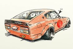 "car illustration ""crazy car art"" jdm japanese old... - ozizo in tokyo"