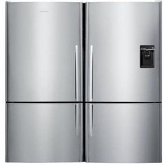 Fisher Paykel 64-Inch Wide Dual Bottom Freezer Counter Depth Refrigerators W/ Curved Doors, Icemaker & Water Dispenser - Stainless Steel - E522BLX5 & E522BRXU5 : ShoppersChoice.com