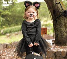 Todo Halloween, disfraces originales: Como hacer un disfraz de gato para niña con un tutú