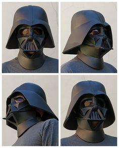 Mascara Darth Vader, Darth Vader Suit, Darth Vader Cosplay, Vader Helmet, Cosplay Armor, Star Wars Costumes, Baby Costumes, Eva Foam Armor, Anniversaire Star Wars