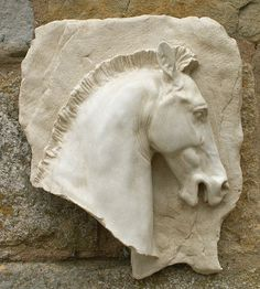 Garden Wall Plaques : Animal Wall Plaques : Horse Head Wall Plaque (Right)