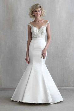 Wedding gown by Madison James.