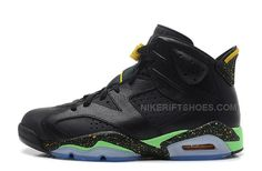 "best sneakers 058e0 0bc7f Air Jordan 6 (VI) Retro ""2014 World Cup"" Black Light Lucid Green-Tour  Yellow For Sale, Price   85.00 - Nike Rift Shoes"