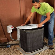 The problem of a noisy central air conditioner condenser can be solved in several possible ways, but if the unit is too old it may just need to be replaced.