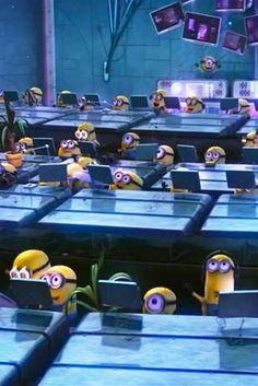 A fun game with the Minions language. Minions Cartoon, Cute Minions, Minion Movie, Minions Despicable Me, Minion Party, Minions Quotes, Minion Pictures, Funny Pictures, Minions Language