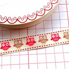 Pink Owl Ribbon, 15mm £0.75