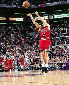 Bulls John Paxson s championship winning shot against Phoenix Suns in Game  6 of 1993 NBA Finals. Omg 7cd6080288b