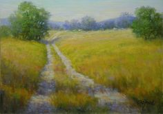 The Way Home  Original Pastel Painting by Paula Ann Ford