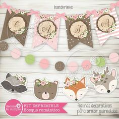 Kit imprimible personalizado animales del bosque romántico Forest Party, Woodland Party, Fox Party, Woodland Animals, Arya 2, Birthday Decorations, Birthday Ideas, Candy Bar Party, Llamas Fox Party, Party Kit, Forest Party, Woodland Party, Wild One Birthday Party, Baby Birthday, Baby Event, Animal Birthday, Baby Sprinkle