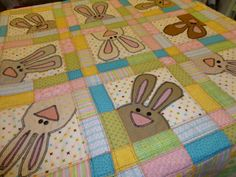 2/7/13 - Easter Quilt  my own design and patterns