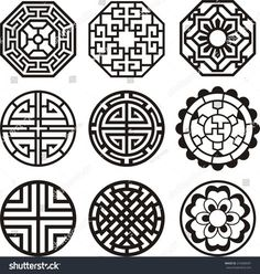 Find Korean Traditional Symbol Vector Image stock images in HD and millions of other royalty-free stock photos, illustrations and vectors in the Shutterstock collection. Thousands of new, high-quality pictures added every day. Pattern Art, Pattern Design, Korean Crafts, Nagel Stamping, Good Luck Symbols, Korean Tattoos, Korean Design, Chinese Patterns, 3d Laser
