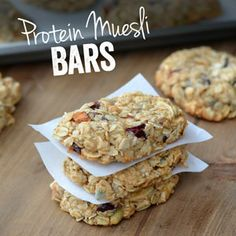 Muesli Protein Bars --- not all Paleo, but better for you protein bar using whey protein powder