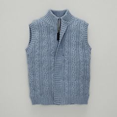 Cable Knit Boys' Gilet | The White Company