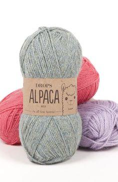 Drops Alpaca Yarn Group A Soft Alpaca. Raw Supplies for Knitting and Crochet. Super Soft Lightweight Yarn for Garments Drops Alpaca Yarn Group A Soft Alpaca. Knitting Yarn, Hand Knitting, Knitting Patterns, Crochet Patterns, Knitting Charts, Drops Alpaca, Alpaca Wool, Alpacas, Drops Design