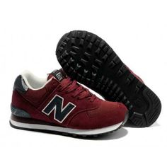 New Balance 574 classic purplish Red Black men NB Shoes Cheap Sneakers, Best Sneakers, Cheap Shoes, Sneakers Fashion, Fashion Shoes, Running Sneakers, Nike Sneakers, Running Shoes, Nb Shoes