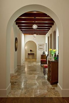 Hope Ranch Spanish Style Custom Home Hall - mediterranean - Hall - Santa Barbara - Allen Construction