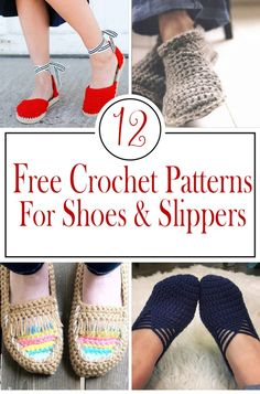 Free Crochet patterns for shoes and slippers – Crafty Tutorials – Knitting Socks İdeas. Crochet Designs, Knitting Designs, Crochet Patterns, Crochet Ideas, Crochet Tutorials, Knitted Slippers, Crochet Slippers, Crochet Yarn, Free Crochet