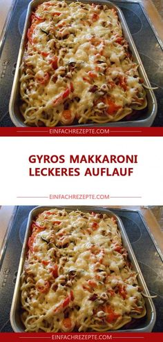 Gyros macaroni casserole,Ingredients 200 g macaroni short 200 g cherry tomato (s) 1 m. Large zucchini 1 bunch spring onion (s) 1 bell pepper (s) red 500 g gyros meat, ready-ma. Hamburger Meat Recipes, Chicken Recipes, Queso Edam, Gouda, Edam Cheese, Macaroni Casserole, Spaghetti Casserole, Gyro Meat, Meals Without Meat