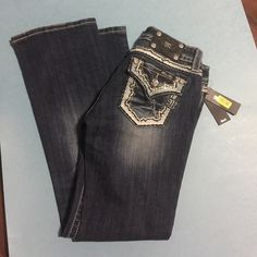 Size 24 relaxed boot cut by miss me Instream 30!  Relaxed boot cut Miss Me Jeans