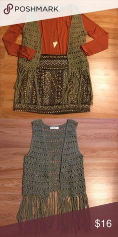 Selling this BLVD Fringe Vest on Poshmark! My username is: lrbibeau. #shopmycloset #poshmark #fashion #shopping #style #forsale #BLVD #Other