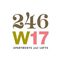 246 w17 apartments & lofts logo / m.laux