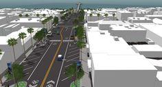 Schematic model for Manhattan Beach downtown
