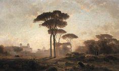 Villa Medici, Rome by Jean-Achille Benouville