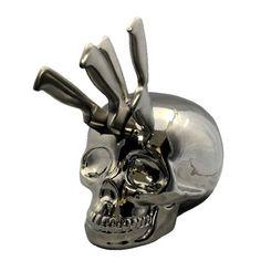 Skull knife block