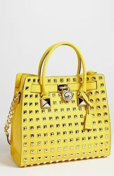 MICHAEL Michael Kors  Hamilton - Large  Studded Leather Tote available at   Nordstrom Borsette 2436397ec4e