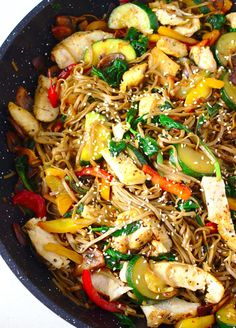 Paleo Recipes, Cooking Recipes, Best Cookbooks, Chow Mein, Wok, Japchae, Stir Fry, Fries, Food Porn