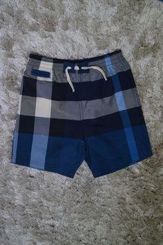 4738310045 Burberry Toddler Boy's Check Swim Trunks- Blue Check (Size 3T) Runs big  like a 4 | eBay