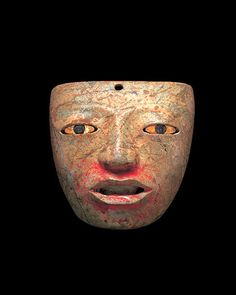 Teotihuacan Stone Mask with Shell and Pyrite Inlay | Flickr - Photo Sharing!