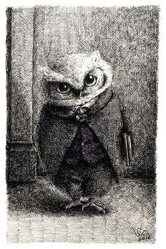 Stern Professor Owl is stern